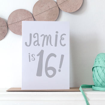 Personalised 16th Birthday Card