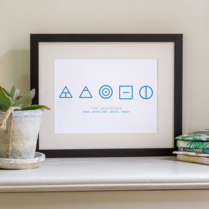Glyph Family Print Personalised