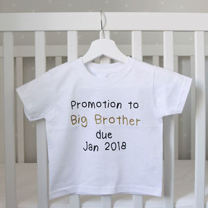 Promotion To Big Brother Or Sister Reveal T Shirt