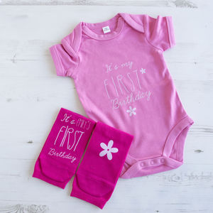 Personalised First Birthday For Me And You Gift Set - clothing