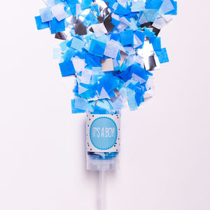 'It's A Boy' New Baby Confetti Pop - baby shower decorations