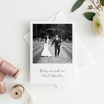Ellen Personalised Wedding Photo Thank You Cards