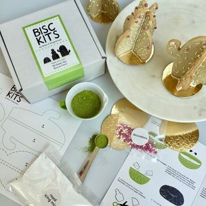 Make Your Own 3D Green Tea Biscuit Cacti - make your own kits