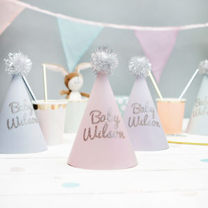 Personalised Baby Shower Party Hats