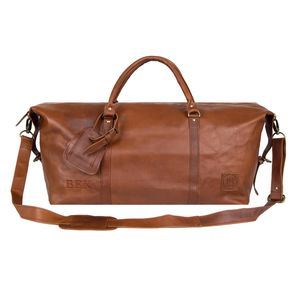 Personalised Leather Armada Duffle Holdall