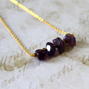 Chidren's Semi Precious Stone Bar Necklace