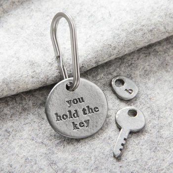 'You Hold The Key' Keyring