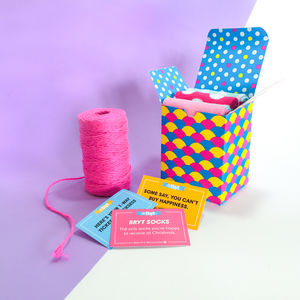Colourful Sock Gift Boxes - socks