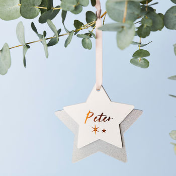 Personalised Secret Message Star Decoration