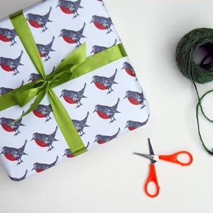 Robin Christmas Wrapping Paper - wrapping