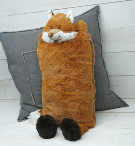 Fox Hot Water Bottle Cover/Pyjama Case - bedroom