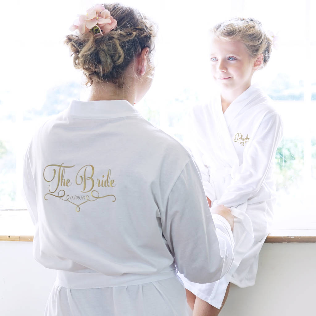 personalised wedding dressing gown for the bride by sparks and ...