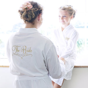 Personalised Wedding Dressing Gown For The Bride