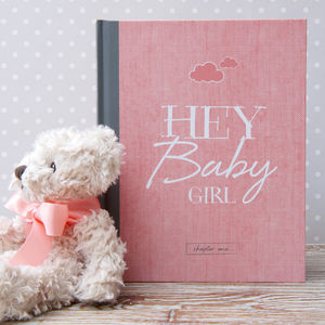 Baby Journal And Record Book For Girls - baby shower gifts