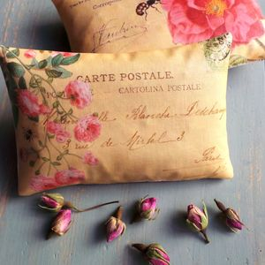French Postcard Pillows Filled With Rose Petals - decorative accessories