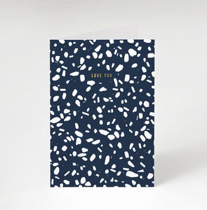 Terrazzo 'Love You' Greetings Card