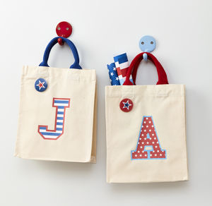 Child's Initial Mini Canvas Bag