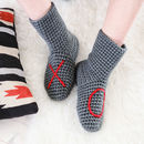 Slipper Socks Handmade With Xo Design