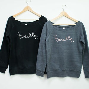 Twinkle Rose Gold Christmas Jumper - christmas jumpers