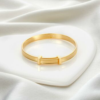 18ct Gold Vermeil Heritage Christening Bangle
