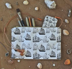 Nautical Themed Pouch - make-up bags