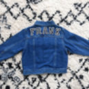 Kids Personalised Denim Jacket B/W Letters