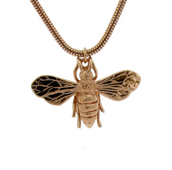 Rose Gold Honey Bee Necklace