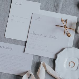 Stardust Wedding Invitation Set - invitations