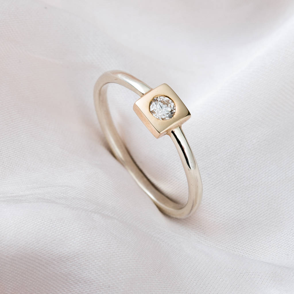 rings with square champagne signature ring gold setting yellow fancy ringin carat our cut diamond in engagement maroa