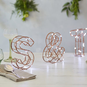 Wire Letter Lights Set - children's room