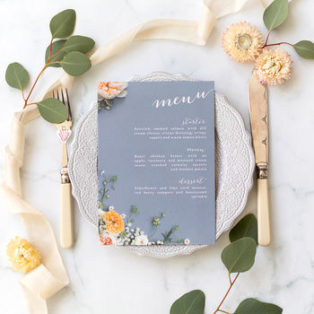 Wedding Menu: Peony Dream Collection