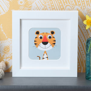 Wobbly Eyed Framed Nursery Prints - gifts for babies