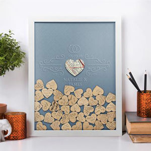 Personalised Wedding Guest Frame With Keepsake Box - picture frames