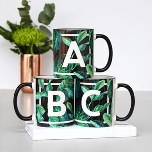 Tropical Leaf Monogram Mug - view all new