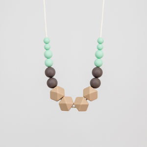 Fossil Teething Necklace - baby shower gifts