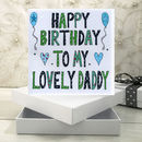 Personalised Daddy Birthday Book Card