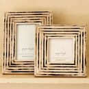 Rakshi Hand Carved Wooden Photo Frame