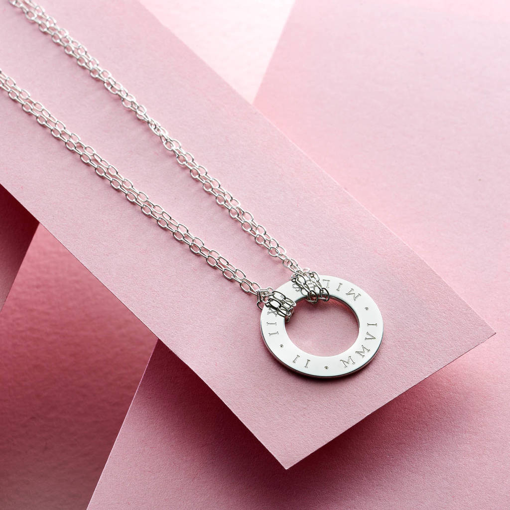 Roman Numeral Circle Necklace By Staxx