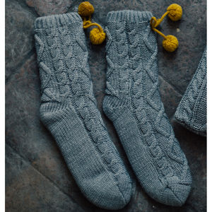 Twist And Turn Slouch Socks - socks
