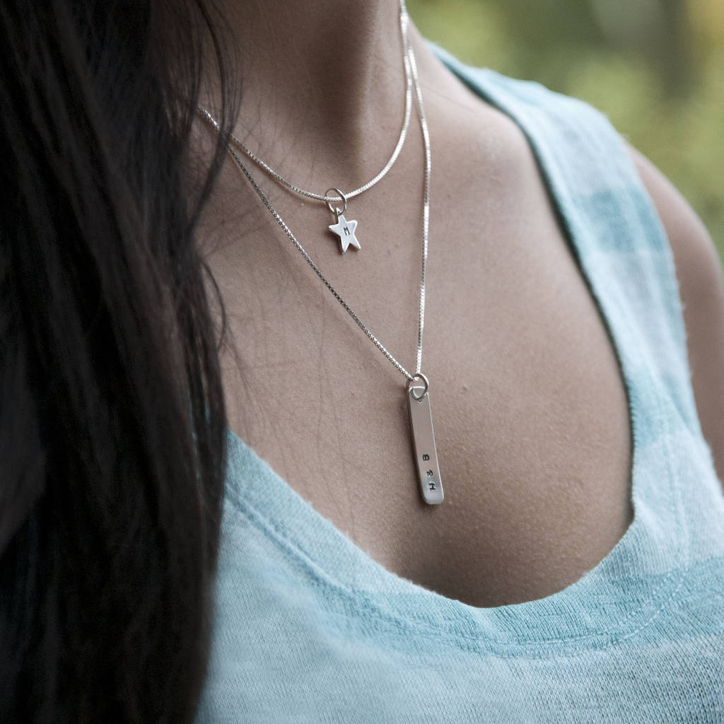 dainty sterling everyday necklace tiny handmade simple cute star silver pin