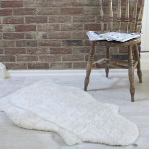 Cream Curly Sheepskin Rug