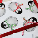 Hand-drawn Penguin Wrapping Paper