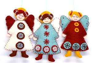 Scandinavian Angels Felt Craft Kit - sewing & knitting