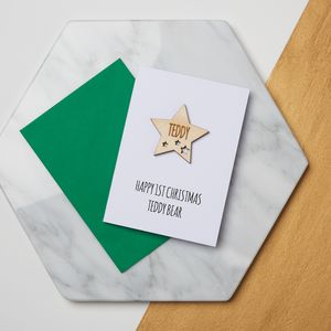 Star First Christmas Keepsake Card