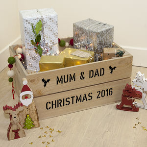 Personalised Large Christmas Gift Crate - crates