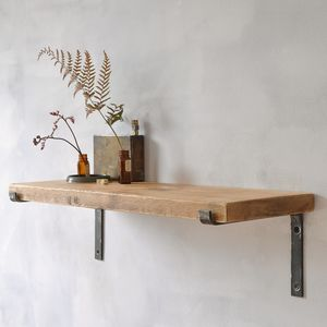 Brompton Wood And Steel Shelf - shelves