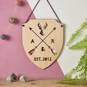 Personalised Hanging Wooden Plaque - wedding gifts