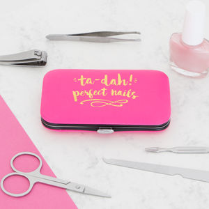 Pink And Gold Manicure Set - health & beauty sale