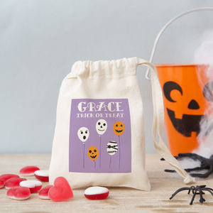 Halloween Balloons Trick Or Treat Bag With Sweet Option - personalised