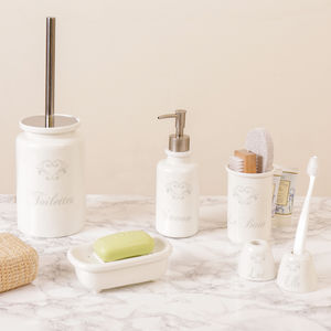 Blanc Savon Bathroom Storage Collection